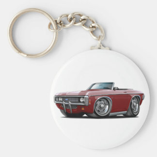 1969 Impala Maroon Convert Basic Round Button Keychain