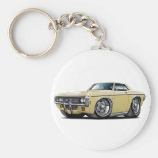 1969 Impala Tan Car Basic Round Button Keychain