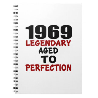 1969 LEGENDARY AGED TO PERFECTION SPIRAL NOTE BOOKS