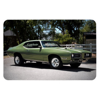 1969 Pontiac GTO Green Classic Muscle Car Magnet