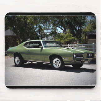1969 Pontiac GTO Green Classic Muscle Car Mouse Pad