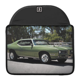 1969 Pontiac GTO Green Classic Muscle Car Sleeve For MacBook Pro