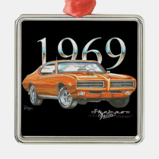 1969 Pontiac GTO Judge Christmas Ornament