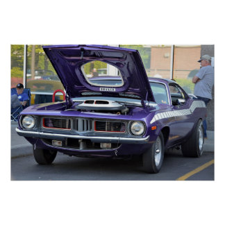 1969 Purple Barracuda Poster