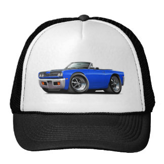 1969 Roadrunner Blue-Black Hood Convertible Trucker Hat