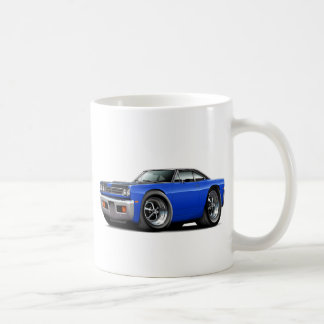 1969 Roadrunner Blue-Black Hood-Top Car Coffee Mug