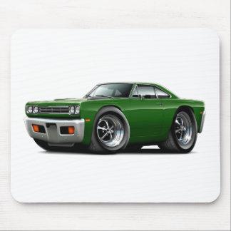 1969 Roadrunner Green Car Mouse Pad
