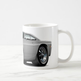 1969 Roadrunner Grey-Black Hood Car Coffee Mug