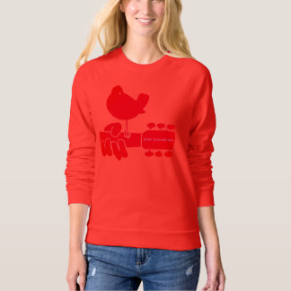 1969 Rockand Roll Festival sweatshirt in red
