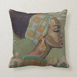 1969  Soul Sisters PowerPuff Throw Pillow