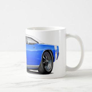 1969 Super Bee Blue-White Top Double Scoop Hood Coffee Mug
