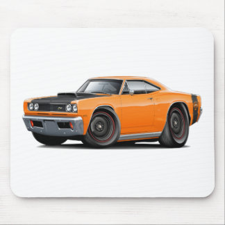 1969 Super Bee Orange-Black Stock Wheels Mouse Pad