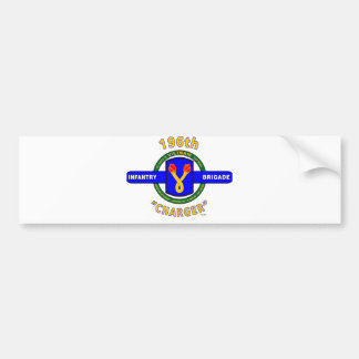 "196TH INFANTRY BRIGADE ""CHARGER"" VIETNAM BUMPER STICKER"