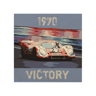 1970 24 Hours of Le Mans Wood Wall Decor