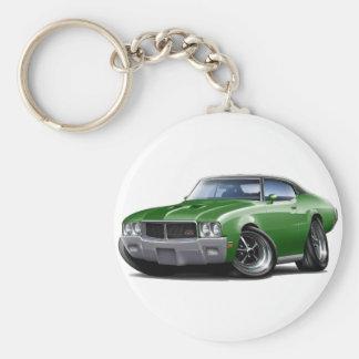 1970-72 Buick GS Green Black Top Car Keychain