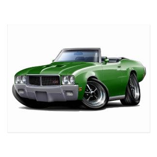 1970-72 Buick GS Green Convertible Postcard