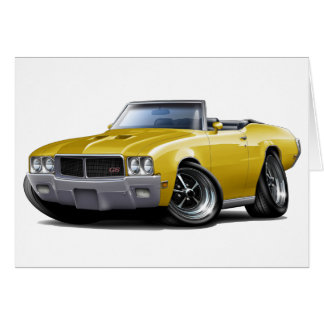 1970-72 Buick GS Yellow Convertible Card