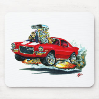 1970-72 Camaro Red-White Car Mouse Pad