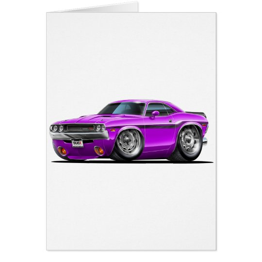 1970-72 Challenger Purple Car Card