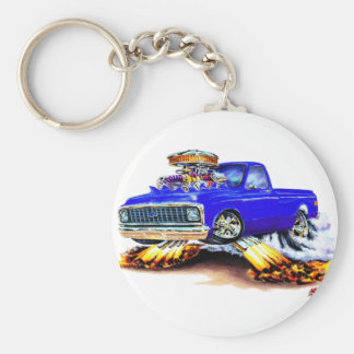 1970-72 Chevy C10 Blue Longbed Keychain