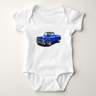1970-72 Chevy C10 Blue Truck Baby Bodysuit