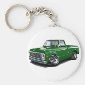 1970-72 Chevy C10 Green Truck Basic Round Button Keychain