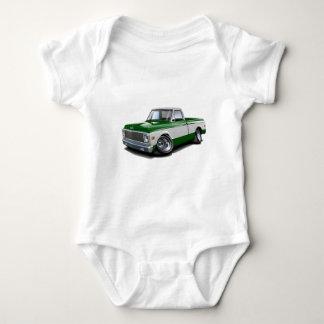 1970-72 Chevy C10 Green-White Truck Baby Bodysuit