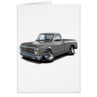 1970-72 Chevy C10 Grey-White Top Truck Card