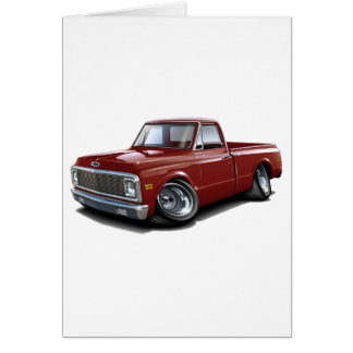 1970-72 Chevy C10 Maroon Truck Card