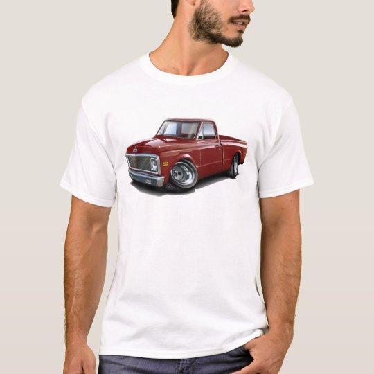 1970-72 Chevy C10 Maroon Truck T-Shirt