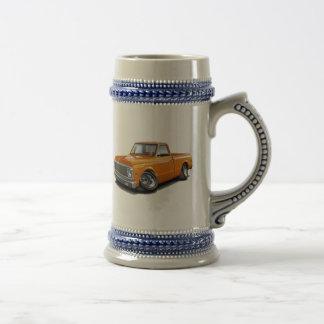 1970-72 Chevy C10 Orange Truck Beer Stein