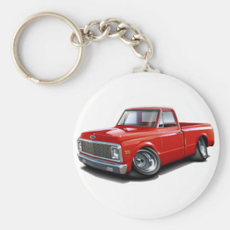 1970-72 Chevy C10 Red Truck Key Chain
