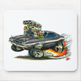 1970-72 Dodge Challenger Black Car Mouse Pad