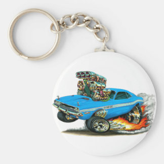 1970-72 Dodge Challenger Lt Blue Car Keychain