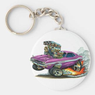 1970-72 Dodge Challenger Purple Car Basic Round Button Keychain
