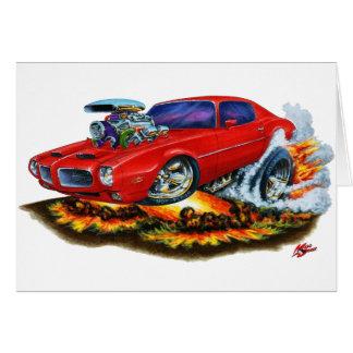 1970-72 Firebird Red Car Card
