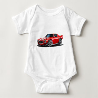 1970-73 Camaro Red/Wht Baby Bodysuit