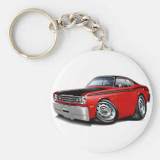 1970-74 Duster 340 Red Car Keychain