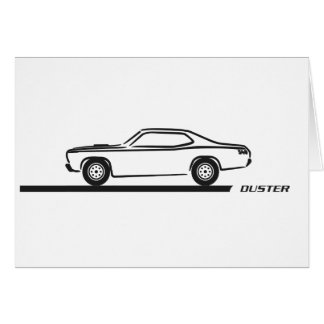 1970-74 Duster Black Car Card
