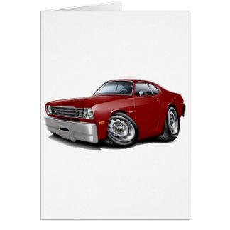 1970-74 Duster Maroon Car Card