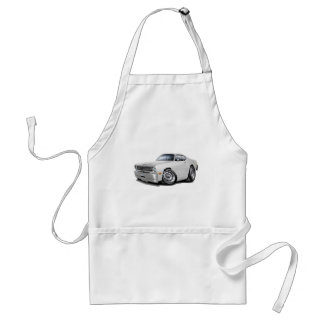 1970-74 Duster White Car Adult Apron