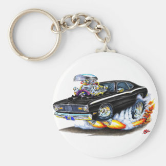 1970-74 Plymouth Duster Black Car Keychain