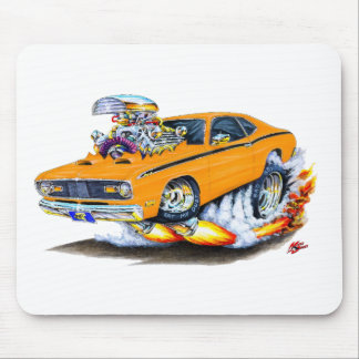 1970-74 Plymouth Duster Orange Car Mouse Pad