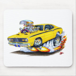 1970-74 Plymouth Duster Yellow Car Mouse Pad
