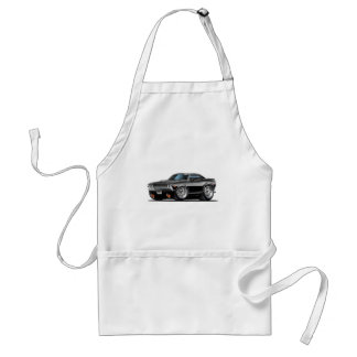 1970 Challenger Black Car Adult Apron