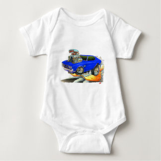 1970 Chevelle Blue Car Baby Bodysuit