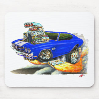 1970 Chevelle Blue-White Car Mouse Pad