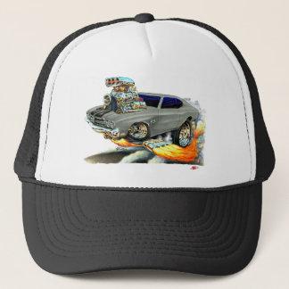 1970 Chevelle Grey-Black Car Trucker Hat