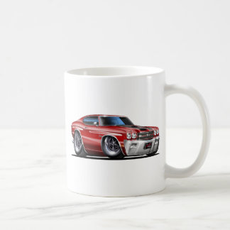 1970 Chevelle Maroon-Black Car Coffee Mug