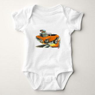 1970 Chevelle Orange Convertible Baby Bodysuit